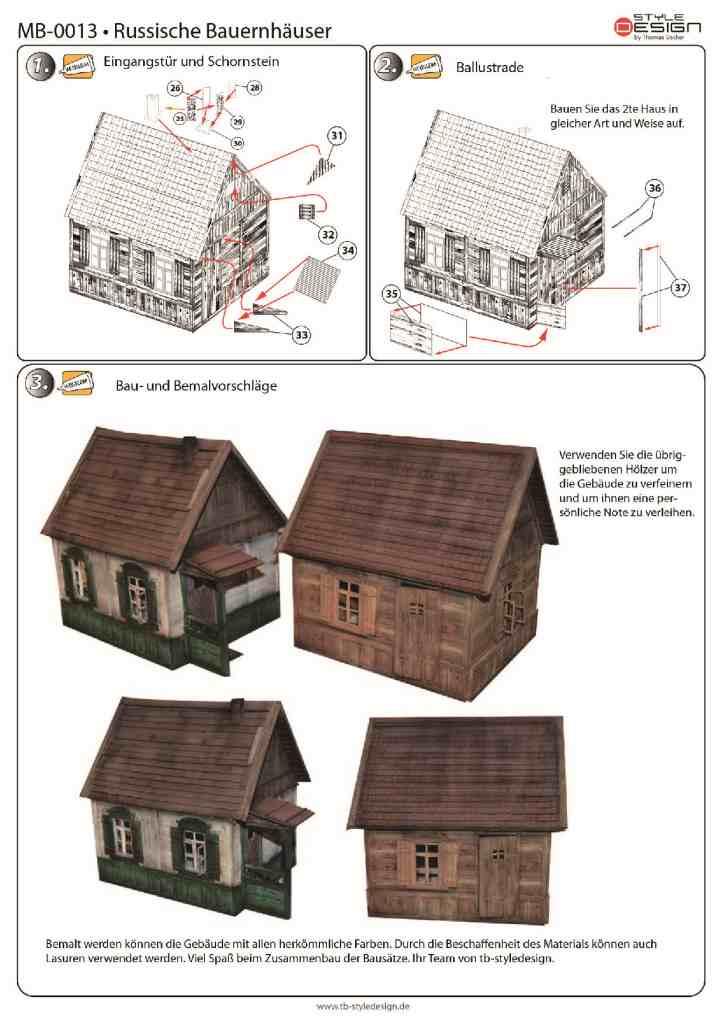 small_3 Zwei Russische Bauernhäuser - 1/35 - Style-Design - Art.Nr. MB-0013