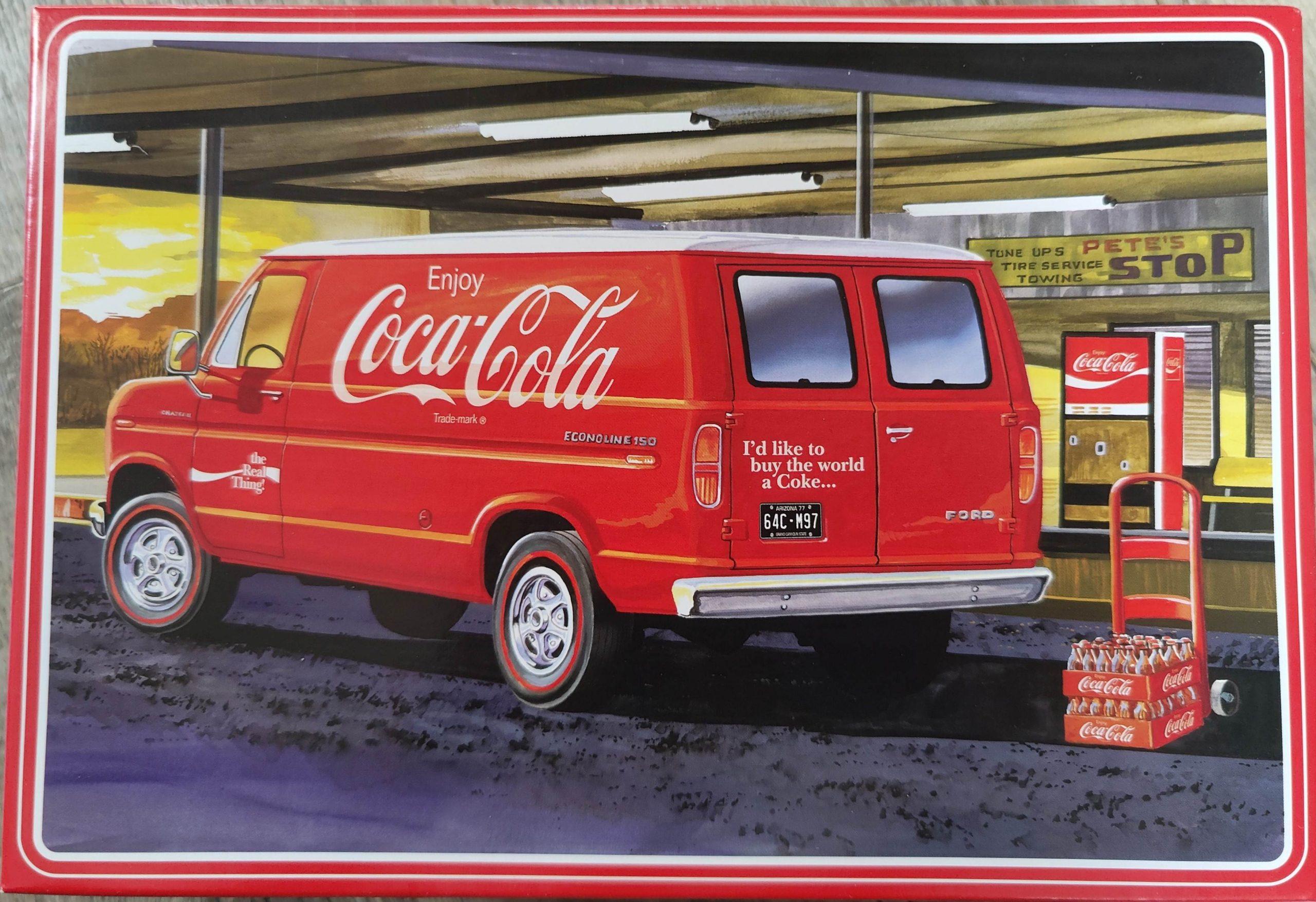"AMT_Cola_van02-scaled AMT 1977 Ford Delivery Van ""Coca Cola"" in 1:25"