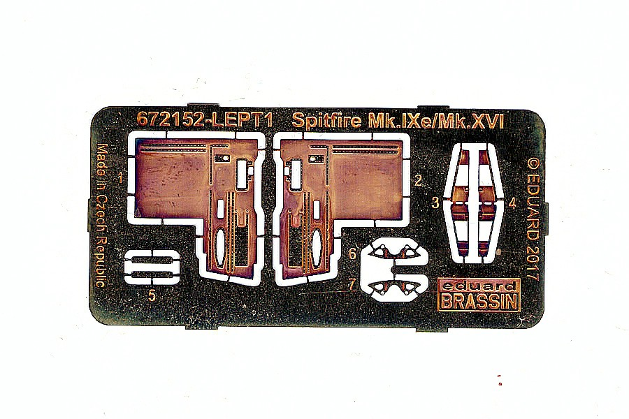 Eduard-672152-Spitfire-Mk.-XVI-Gun-Bays-2 Detailsets für die 1:72er Spitfire Mk. XVI von Eduard