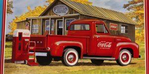 """1053er Ford F100 """"Coca Cola"""" in 1:25 von AMT"""