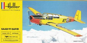 Saab 91 Safir in 1:72 von Heller # 80287