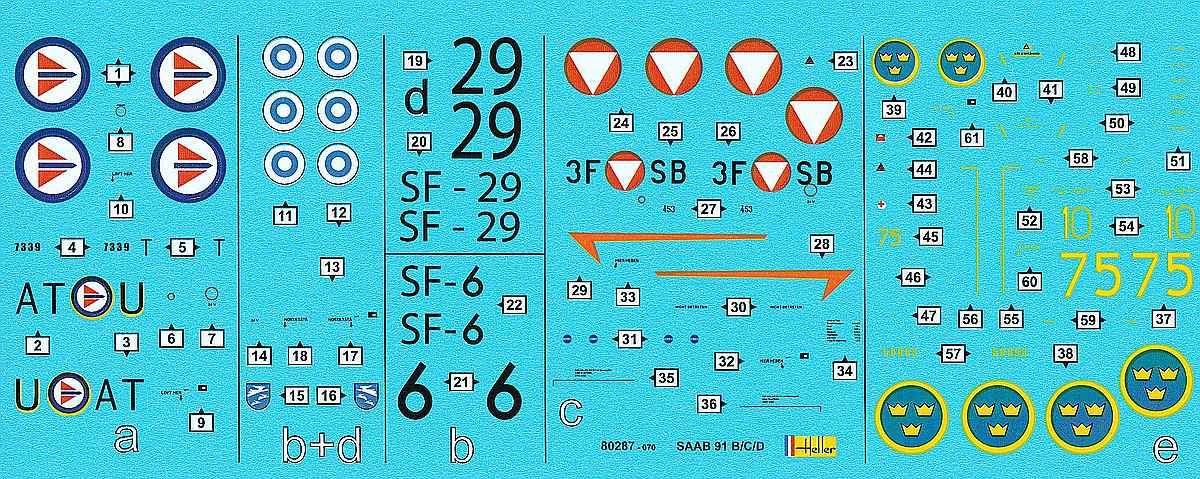 Heller-80287-SAAB-91-Safir-40 Saab 91 Safir in 1:72 von Heller # 80287