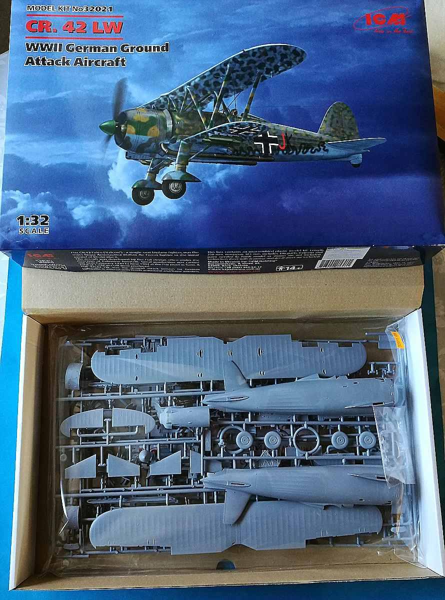 ICM-32021-Fiat-CR-42-LW-2 Fiat CR 42 Luftwaffe in 1:32 von ICM #32021