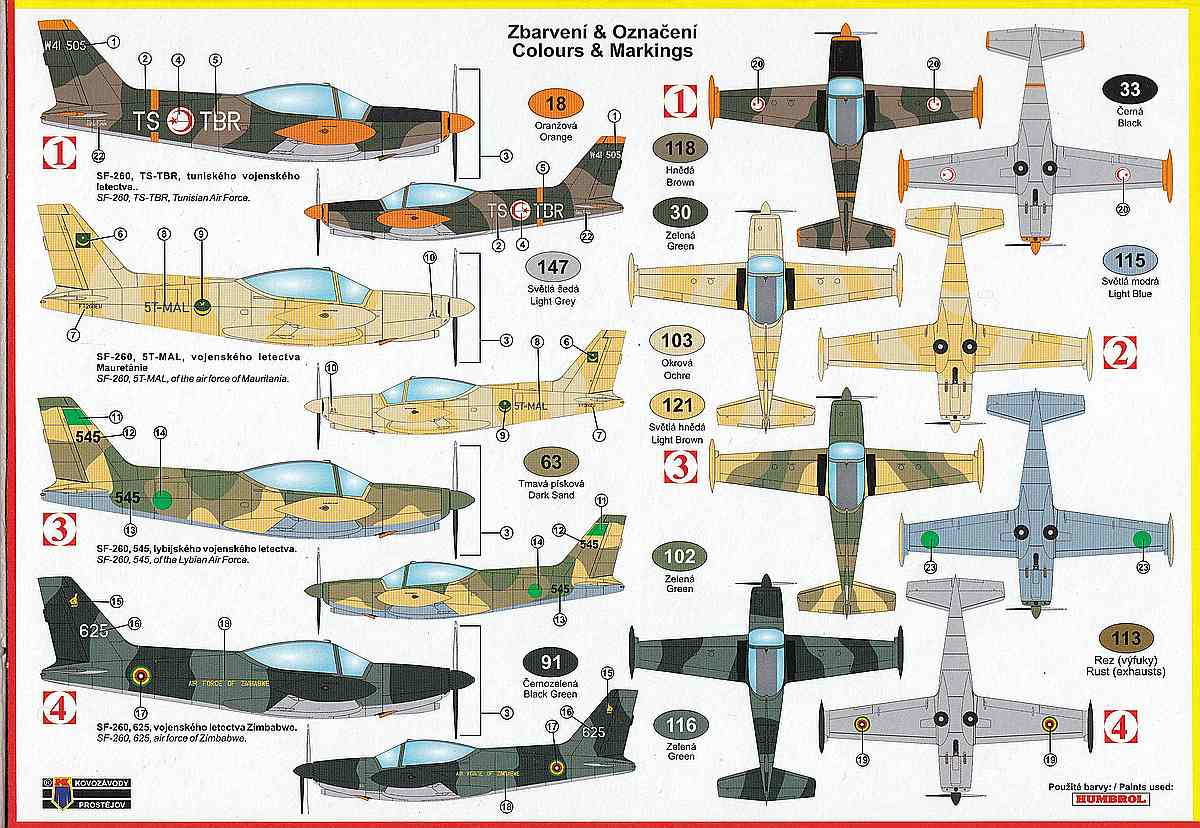 Kovozavody-KPM-0210-SIAI-SF-260W-over-Africa-2 SIAI SF-260W over Africa in 1:72 von Kovozavody #KPM 0210