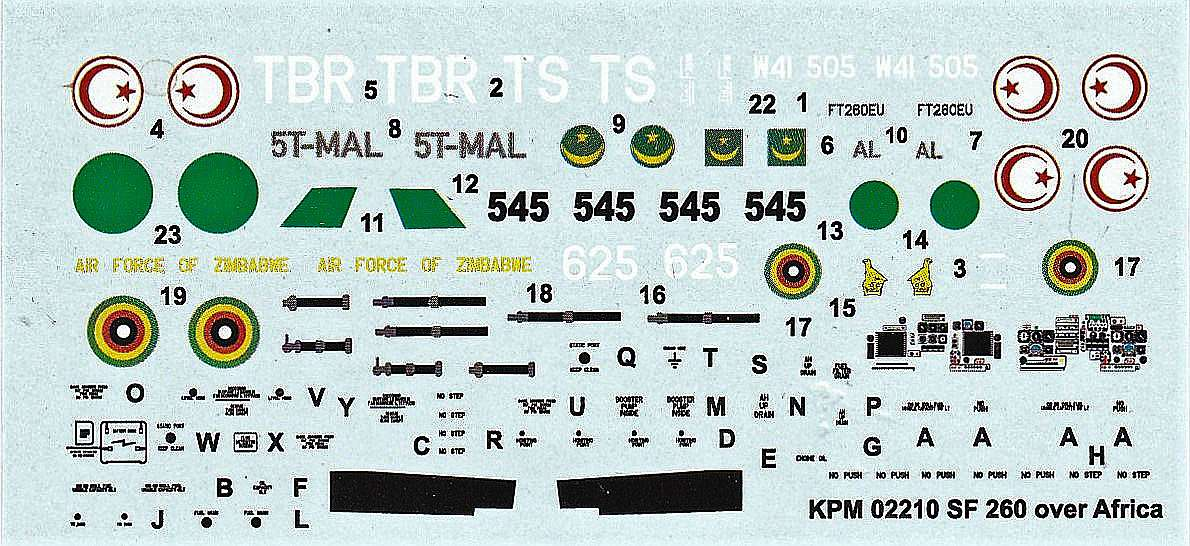 Kovozavody-KPM-0210-SIAI-SF-260W-over-Africa-6 SIAI SF-260W over Africa in 1:72 von Kovozavody #KPM 0210