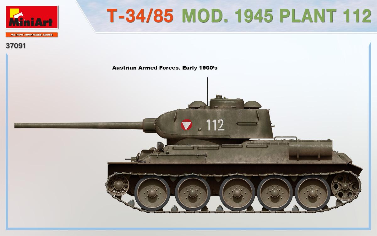MiniArt-37091-T-34-85-1945-Fabrik-112-13 T-34/85 Modell 1945, Fabrik 112 in 1:35 von MiniArt