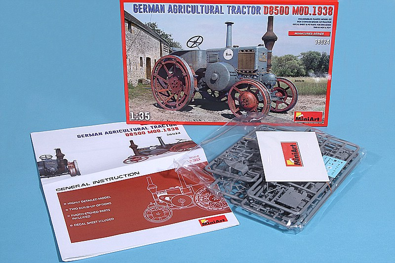 MiniArt-38024-German-Agricultural-Tractor-D-8500-Mod.-1938-2 Lanz D 8500 Modell 1938 in 1:35 von MiniArt # 38024