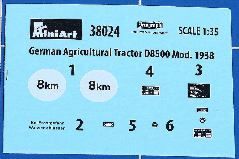 MiniArt-38024-German-Agricultural-Tractor-D-8500-Mod.-1938-9 Lanz D 8500 Modell 1938 in 1:35 von MiniArt # 38024
