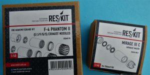 RES/KIT Schubdüsen für Mirage III C und J sowie F-4 Phantom II RSU 48-0061 und RSU 48-0095