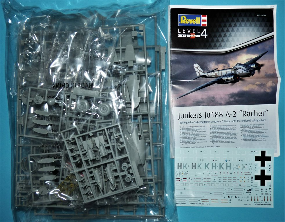 "Revell-03855-Ju-188-A-2-Raecher-2 Junkers Ju 188 A-2 ""Rächer"" in 1:48 von Revell #03855"