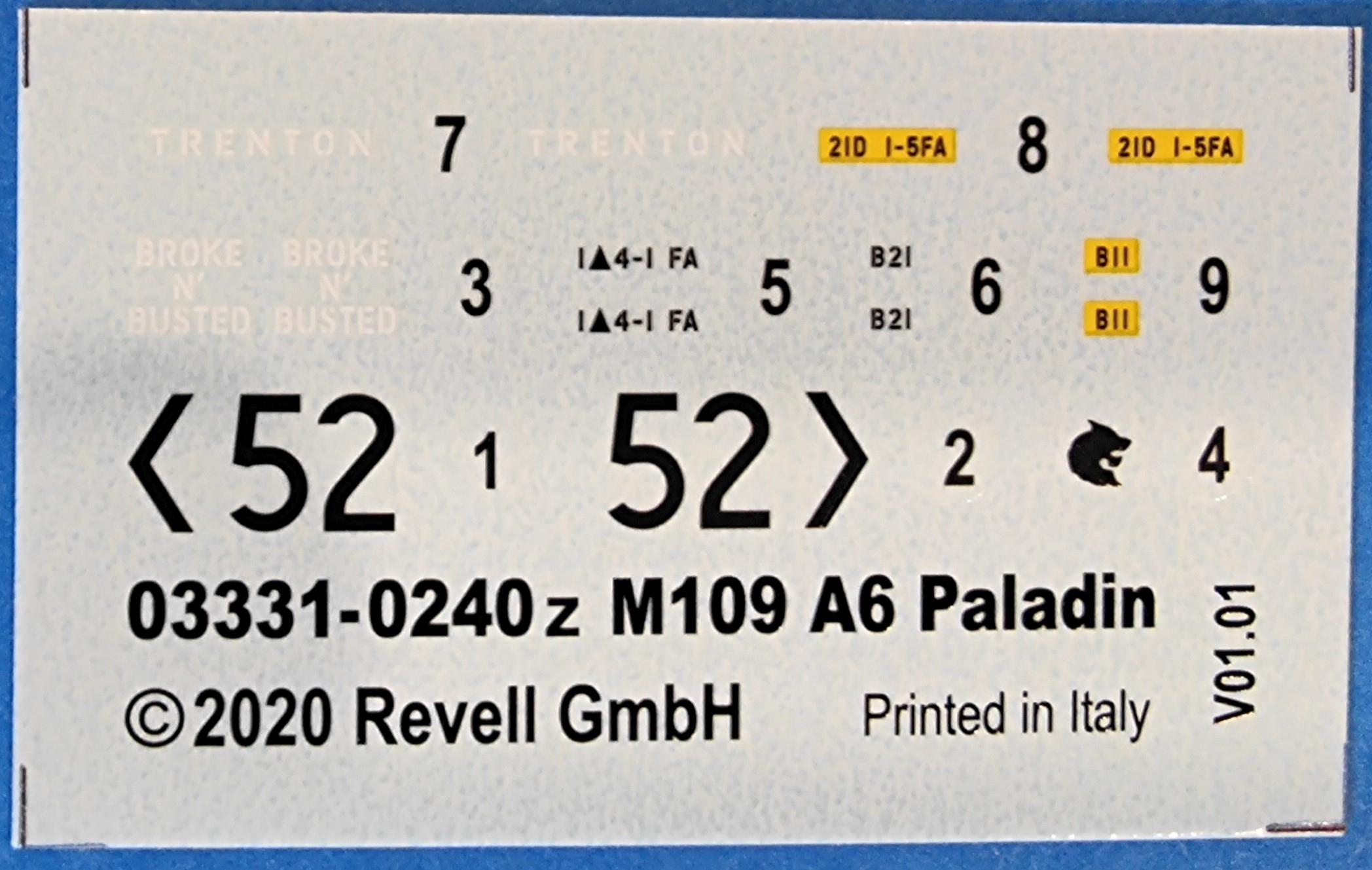 Revell_M109A01 Panzerhaubitze M109A6 in 1:72 von Revell #03331