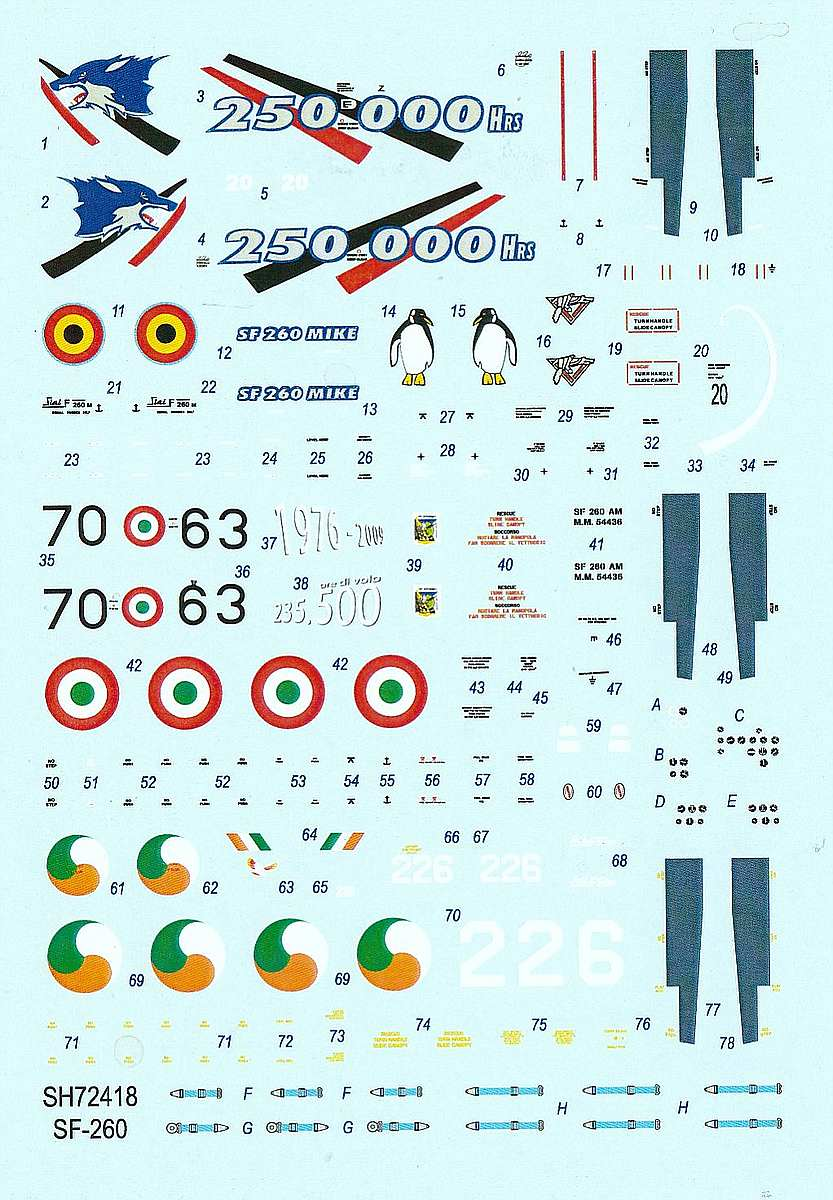 SpecialHobby-SH-72418-SIAI-Marchetti-SF-260-3 SIAI-Marchetti SF-260 in 1:72 von SpecialHobby #SH 72418
