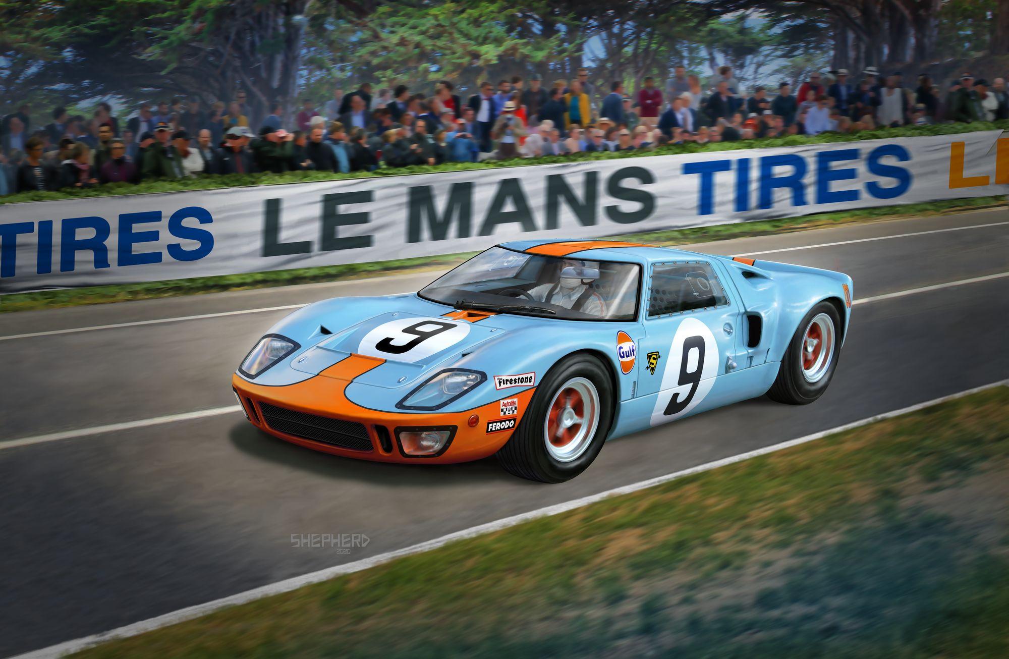 07696-Ford-GT-40-Le-Mans-1968 Revell Neuheiten 2021