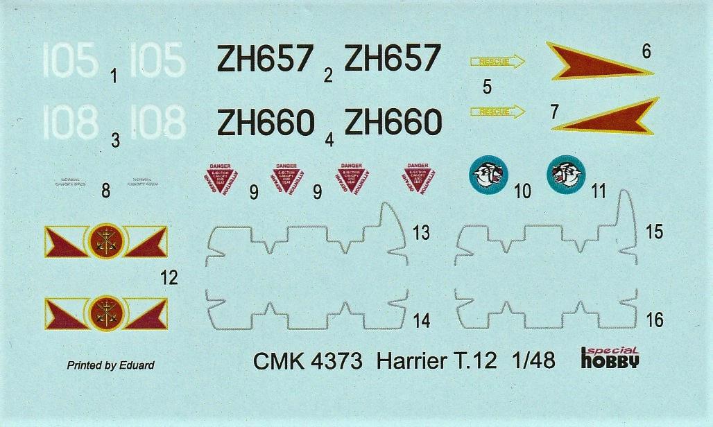 CMK-4373-Harrier-T-19 Umbausatz zum Harrier T.12 Doppelsitzer von CMK in 1:48 #4373