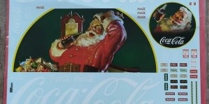 AMT Deluxe Decal Pack Coca-Cola Vintage Santa Graphics in 1:25