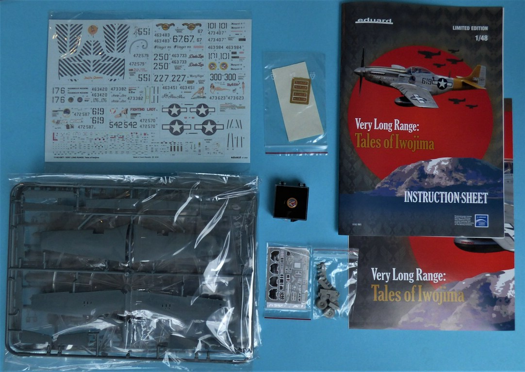 "Eduard-11142-P-51-Mustang-""Very-Long-Range-Tales-of-Iwojima-2 P-51 Mustang ""Very Long Range: Tales of Iwojima"" Limited Edition von Eduard in 1:48 #11142"