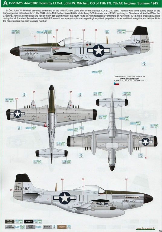 "Eduard-11142-P-51-Mustang-""Very-Long-Range-Tales-of-Iwojima-34 P-51 Mustang ""Very Long Range: Tales of Iwojima"" Limited Edition von Eduard in 1:48 #11142"