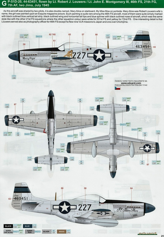 "Eduard-11142-P-51-Mustang-""Very-Long-Range-Tales-of-Iwojima-40 P-51 Mustang ""Very Long Range: Tales of Iwojima"" Limited Edition von Eduard in 1:48 #11142"