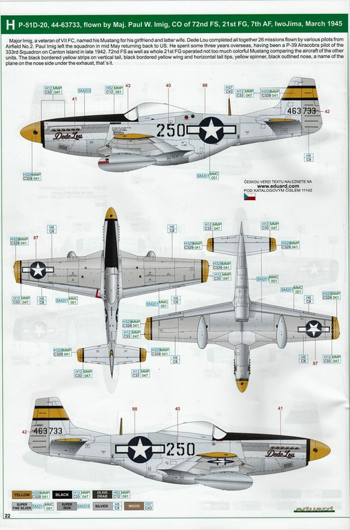 "Eduard-11142-P-51-Mustang-""Very-Long-Range-Tales-of-Iwojima-41 P-51 Mustang ""Very Long Range: Tales of Iwojima"" Limited Edition von Eduard in 1:48 #11142"