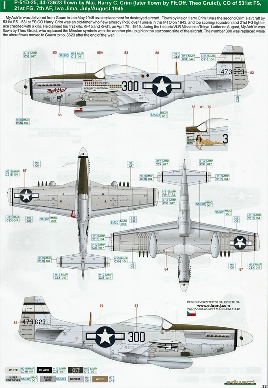 "Eduard-11142-P-51-Mustang-""Very-Long-Range-Tales-of-Iwojima-42 P-51 Mustang ""Very Long Range: Tales of Iwojima"" Limited Edition von Eduard in 1:48 #11142"