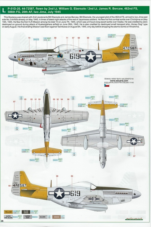 "Eduard-11142-P-51-Mustang-""Very-Long-Range-Tales-of-Iwojima-45 P-51 Mustang ""Very Long Range: Tales of Iwojima"" Limited Edition von Eduard in 1:48 #11142"