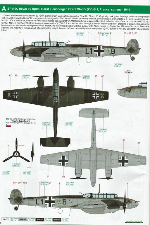 "Eduard-11145-Adlertag-Bf-110-80 ""Adlertag"" Limited Edition Bf-110 von Eduard in 1:48 #11145"