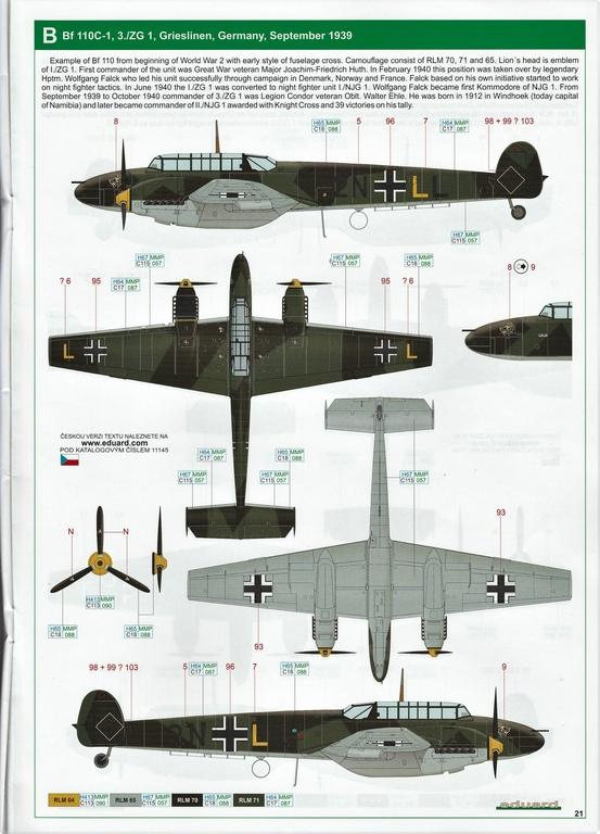 "Eduard-11145-Adlertag-Bf-110-81 ""Adlertag"" Limited Edition Bf-110 von Eduard in 1:48 #11145"