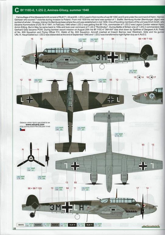 "Eduard-11145-Adlertag-Bf-110-82 ""Adlertag"" Limited Edition Bf-110 von Eduard in 1:48 #11145"