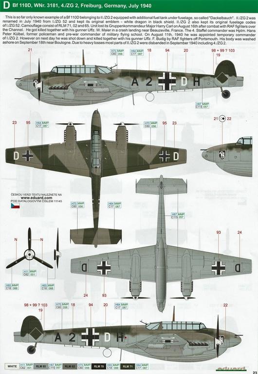 "Eduard-11145-Adlertag-Bf-110-83 ""Adlertag"" Limited Edition Bf-110 von Eduard in 1:48 #11145"