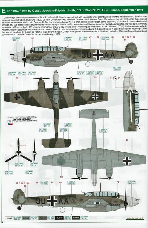 "Eduard-11145-Adlertag-Bf-110-84 ""Adlertag"" Limited Edition Bf-110 von Eduard in 1:48 #11145"
