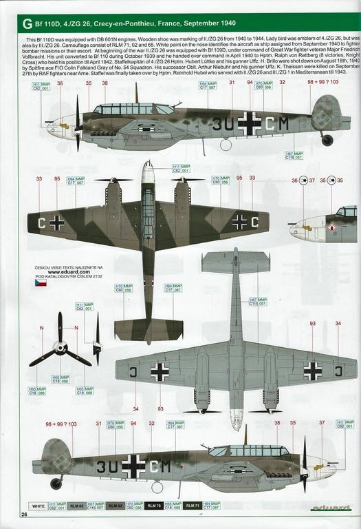 "Eduard-11145-Adlertag-Bf-110-86 ""Adlertag"" Limited Edition Bf-110 von Eduard in 1:48 #11145"