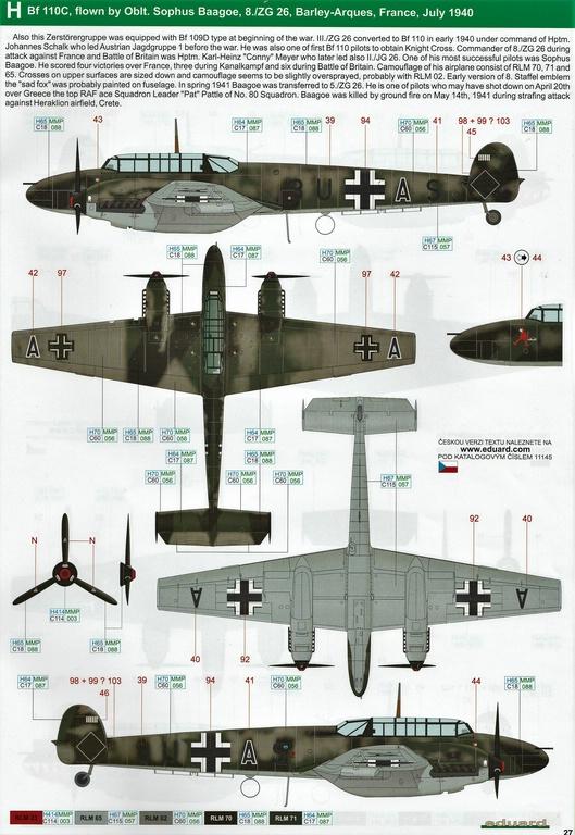 "Eduard-11145-Adlertag-Bf-110-87 ""Adlertag"" Limited Edition Bf-110 von Eduard in 1:48 #11145"