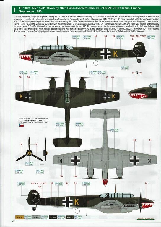 "Eduard-11145-Adlertag-Bf-110-88 ""Adlertag"" Limited Edition Bf-110 von Eduard in 1:48 #11145"