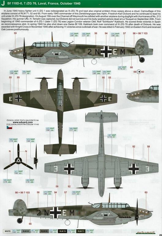 "Eduard-11145-Adlertag-Bf-110-89 ""Adlertag"" Limited Edition Bf-110 von Eduard in 1:48 #11145"