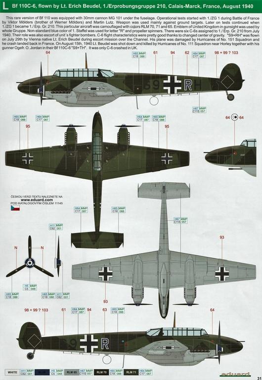"Eduard-11145-Adlertag-Bf-110-91 ""Adlertag"" Limited Edition Bf-110 von Eduard in 1:48 #11145"