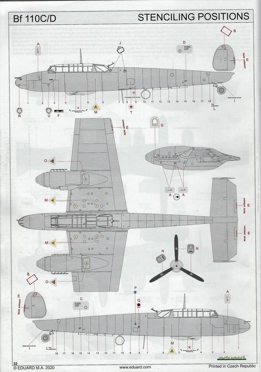 "Eduard-11145-Adlertag-Bf-110-92 ""Adlertag"" Limited Edition Bf-110 von Eduard in 1:48 #11145"