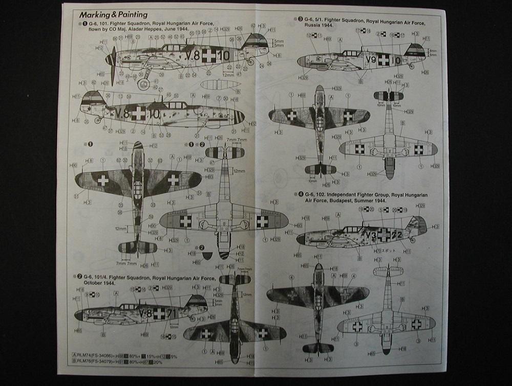 "Fujimi-48008-Bf-109-G-6-Hungarian-Puma-4 Messerschmitt Bf 109 G-6, ""Hungarian Puma""  von Fujimi # 48008"