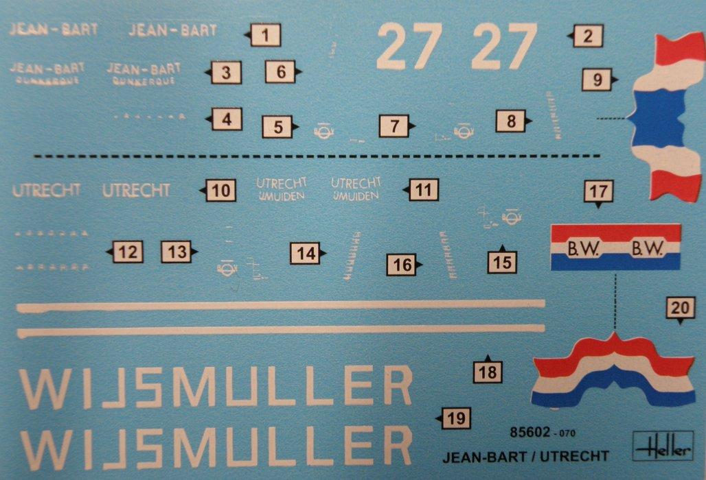 Heller-85602-Twin-Set-Jean-Bart-Utrecht-16 Twin Set Jean Bart & Utrecht in 1:200 von Heller #85602