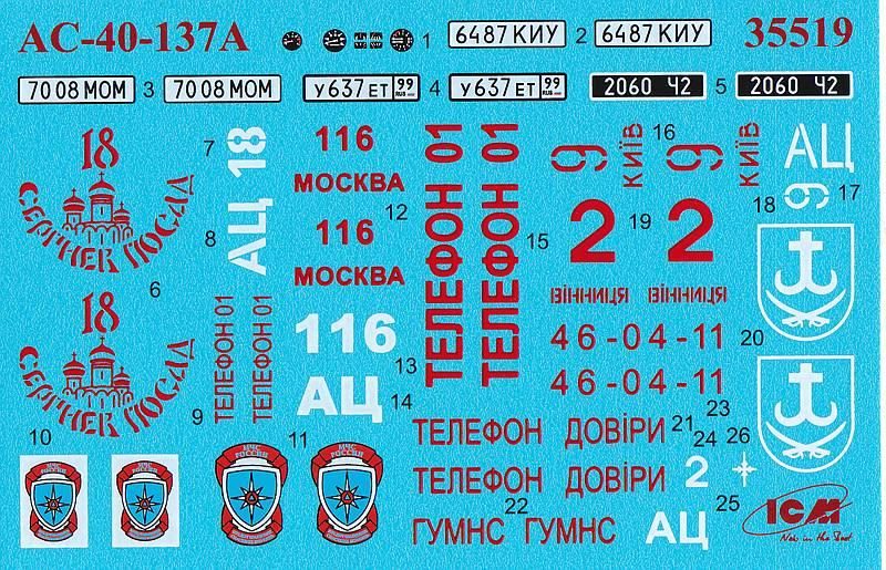 ICM-35519-AC-40-137A-Zil-131-Feuerwehr-3 AC-40-137A Zil 137 Feuerwehr in 1:35 von ICM # 35519