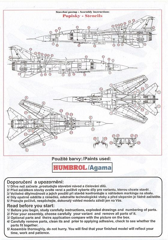 Kovozavody-KPM-0141-MiG-23-UM-20 MiG-23 UM in 1:72 von Kovozavody # KPM 0141