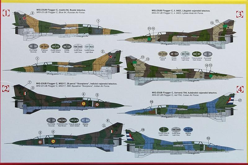 Kovozavody-KPM-0141-MiG-23-UM-3 MiG-23 UM in 1:72 von Kovozavody # KPM 0141