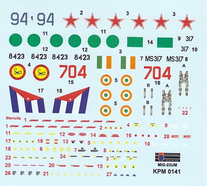 Kovozavody-KPM-0141-MiG-23-UM-4 MiG-23 UM in 1:72 von Kovozavody # KPM 0141