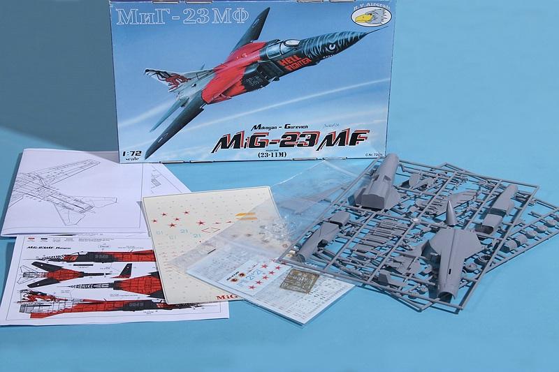 R.V.-Aircraft-72001-MiG-23-MF-2 MiG-23 MF in 1:72 von R.V. Aircraft # 72001