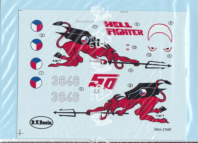 R.V.-Aircraft-72001-MiG-23-MF-5 MiG-23 MF in 1:72 von R.V. Aircraft # 72001