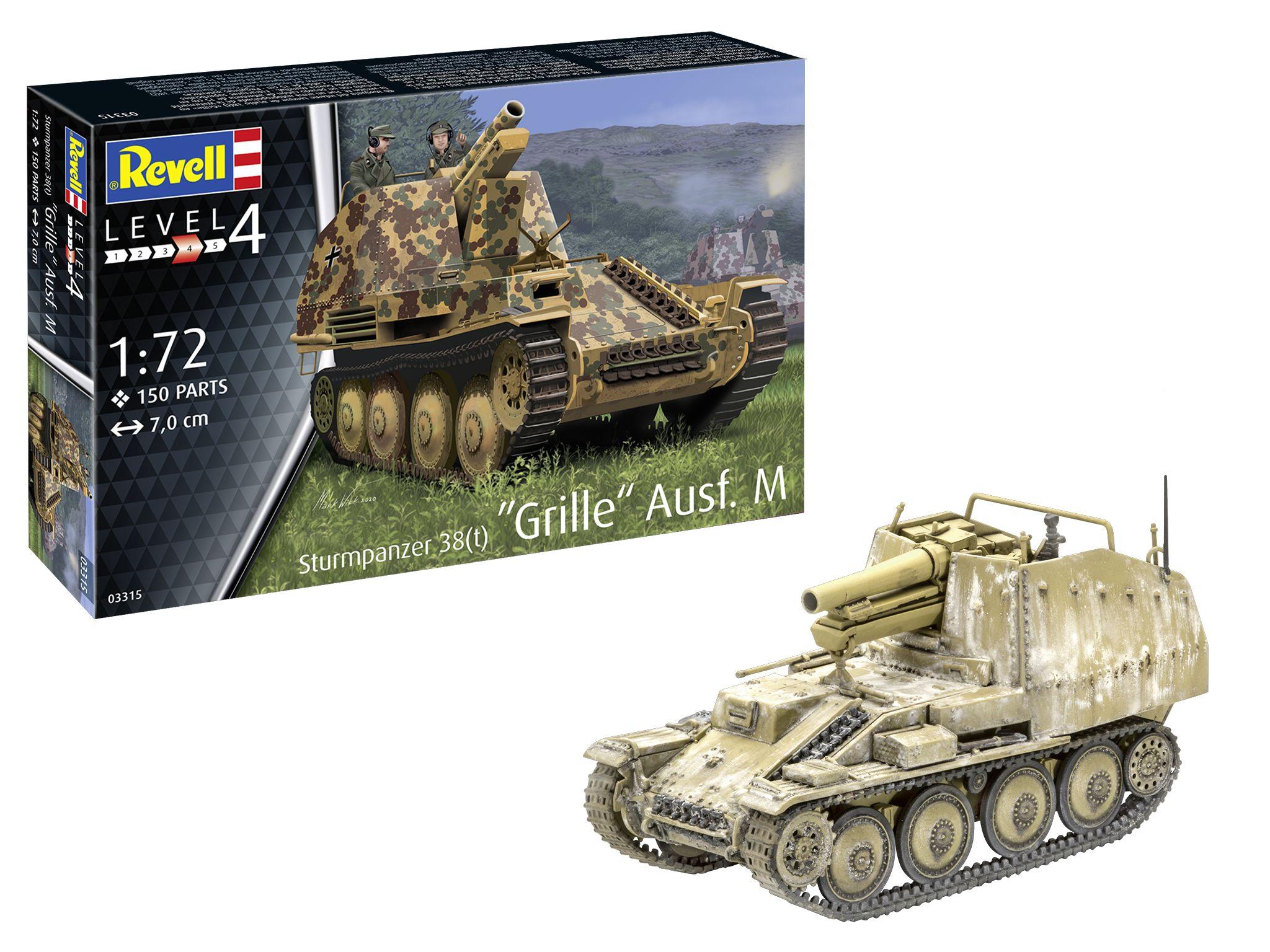 Revell-03315-Sturmpanzer-38t-Grille-Ausf.-M Revell Neuheiten 2021