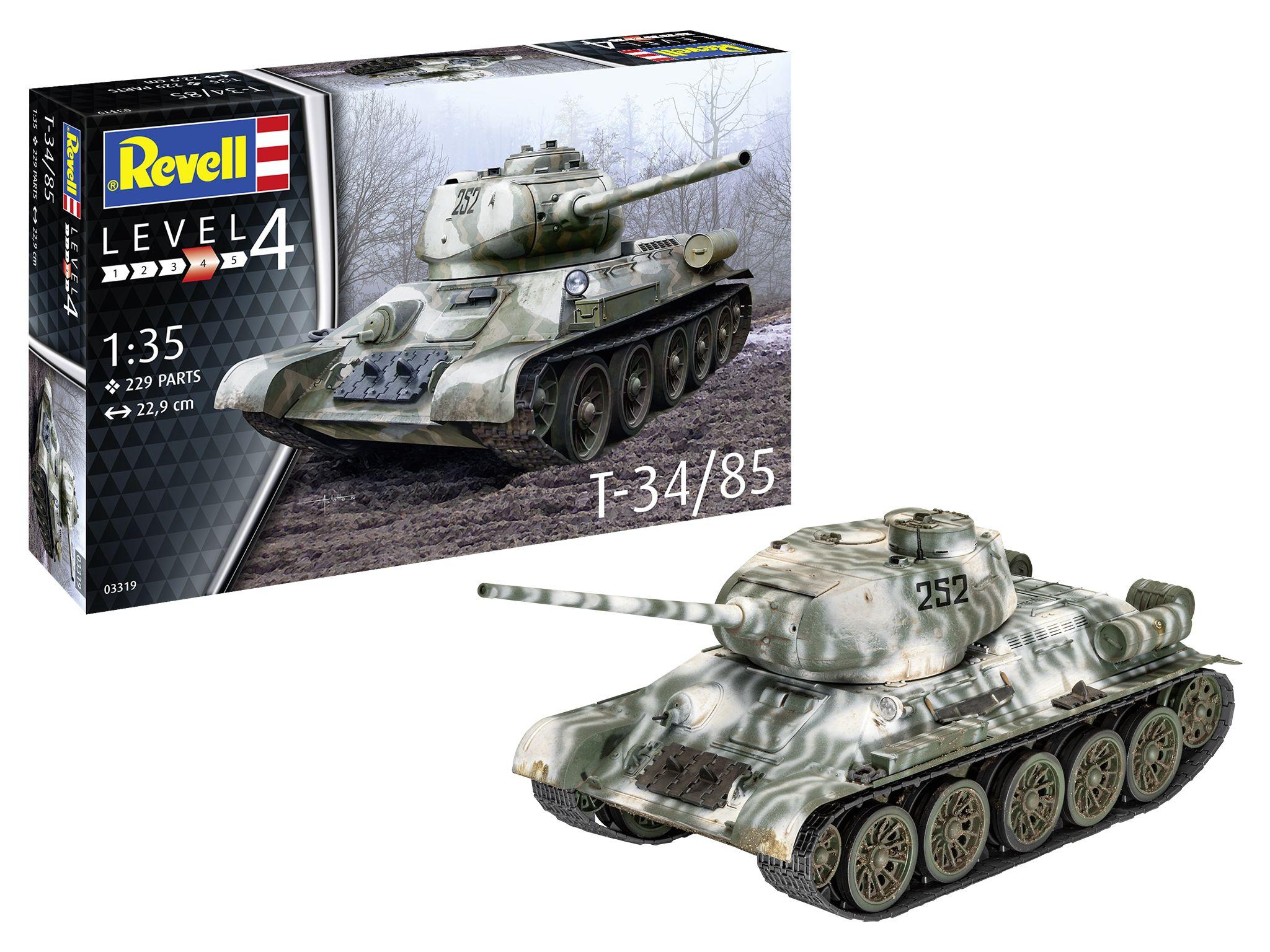 Revell-03319-T-34-85 Revell Neuheiten 2021