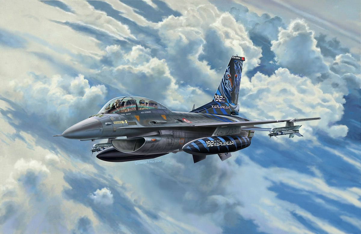 Revell-03844-F-16D-Fighting-Falcon Revell Neuheiten 2021
