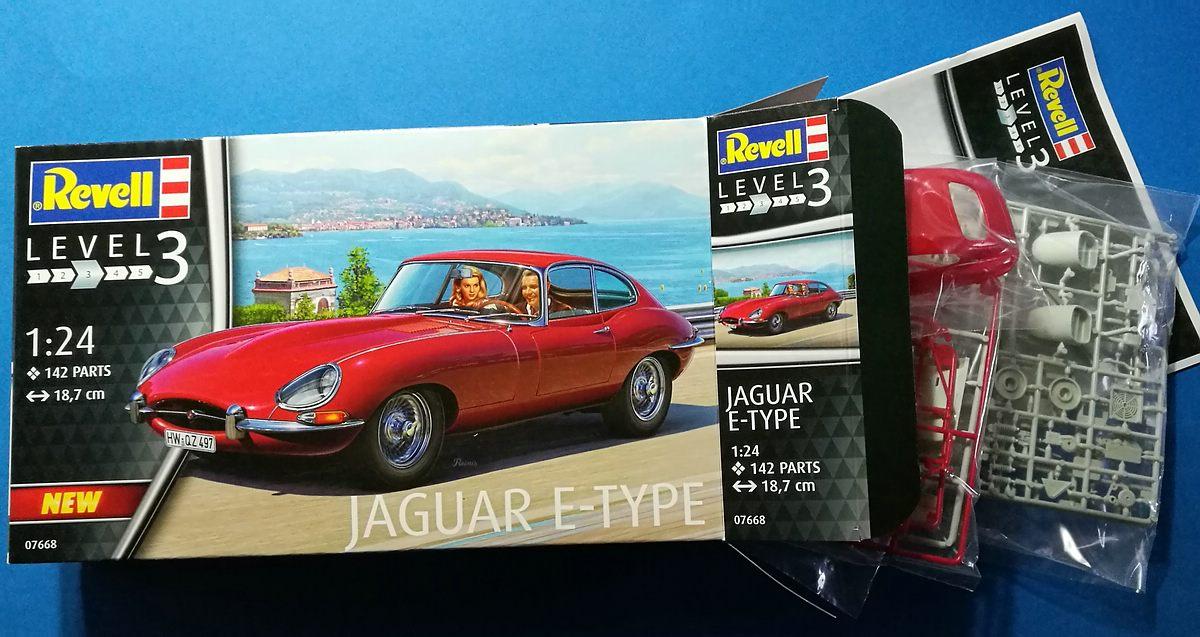 Revell-07668-Jaguar-E-Type-1 Jaguar E-Type in 1:24 von Revell # 07668