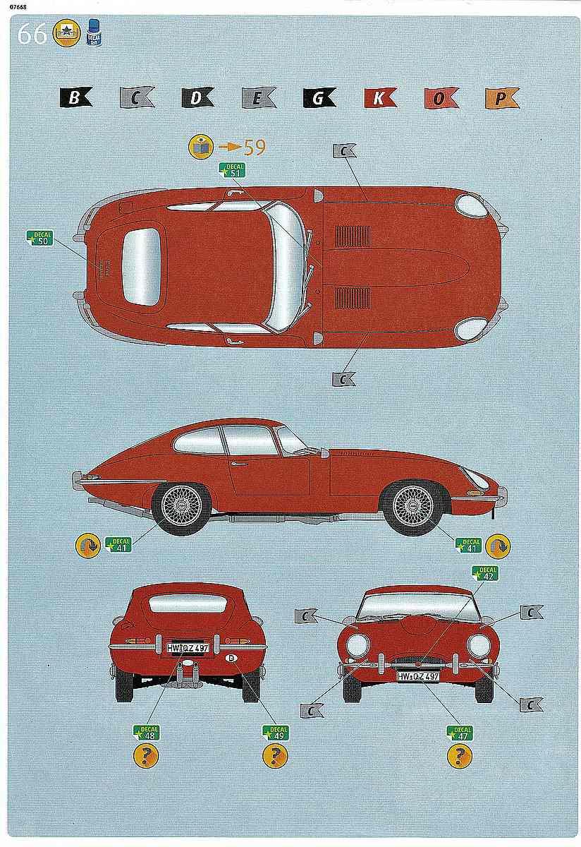 Revell-07668-Jaguar-E-Type-Bauanleitung-15 Jaguar E-Type in 1:24 von Revell # 07668