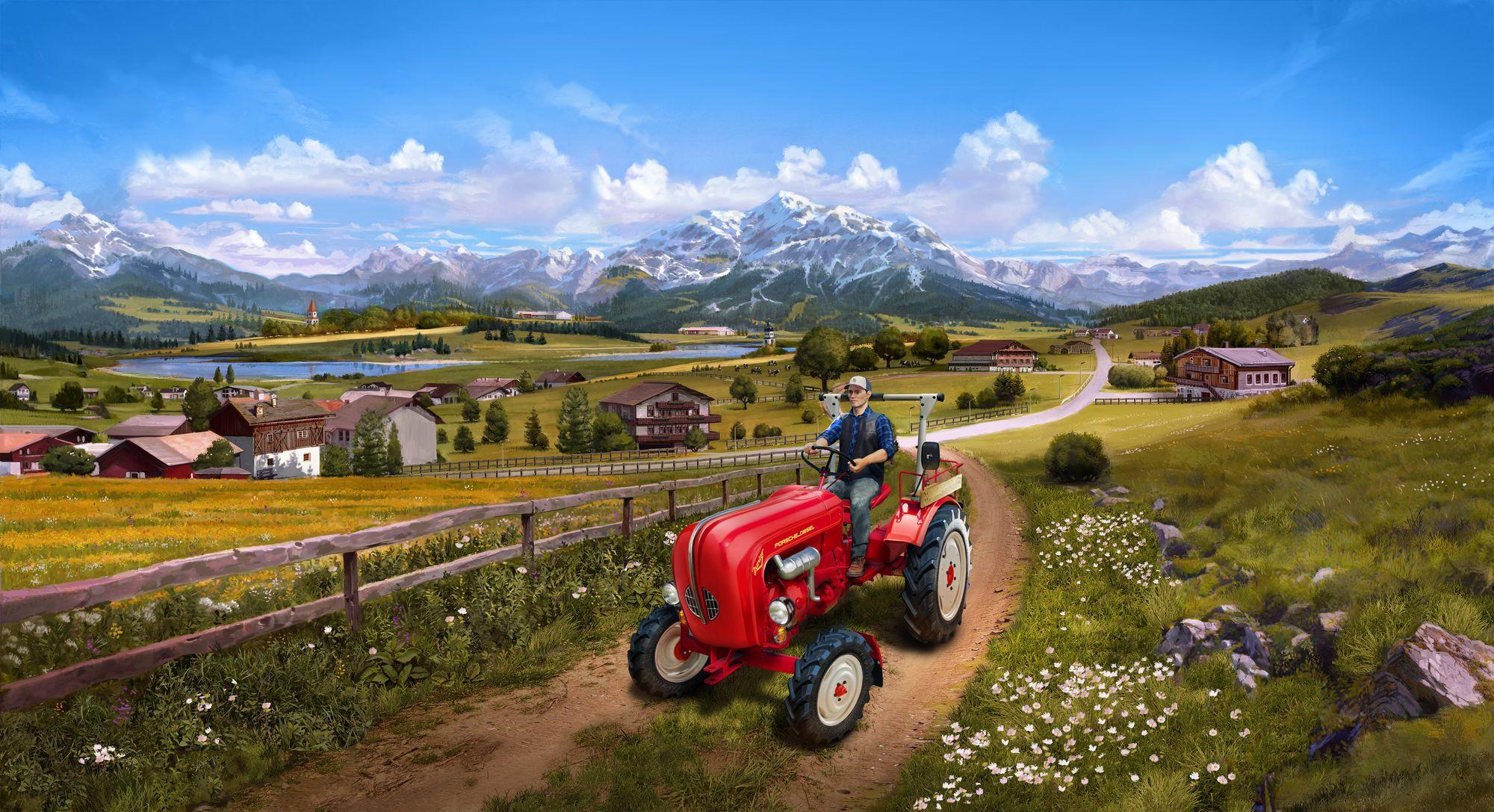 Revell-07823-Easy-Click_Porsche-Junior-108-Farming-Simulator-Edition Revell Neuheiten 2021